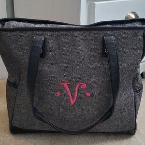 """Black tweed """"31"""" tote bag"""